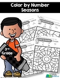 3rd Grade Color by Number {Seasons}