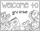 3rd Grade Coloring Page