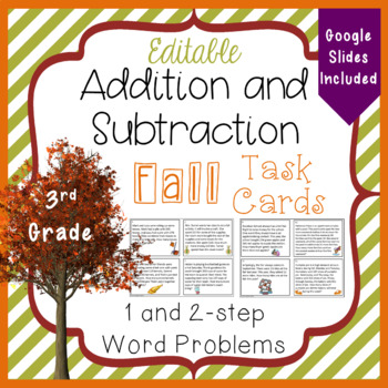 Addition and Subtraction Task Cards  for the Fall - 3.NBT.2