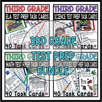 Third Grade Back to School Test Prep Bundle for All Subjects