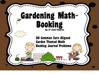 3rd Grade Common Core Aligned Garden Theme Math Booking