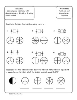 3rd Grade Common Core Aligned Math Homework Pack (4 Weeks) October