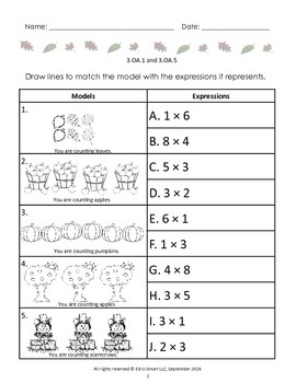 3rd Grade Common Core Aligned: Multiplication: Falling into Multiplication
