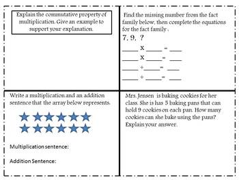 3rd Grade Common Core Aligned Multiplication Task Cards (Set of 40)