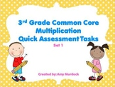 3rd Grade Common Core Aligned Multiplication Task Cards (S