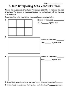 3rd Grade Common Core Area and Perimeter Unit