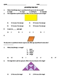 3rd Grade Common Core Assessment for Geometry