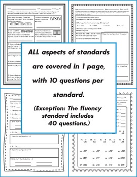 3rd Grade Common Core Assessments: Operations and Algebraic Thinking BUNDLE