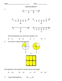3rd Grade Common Core Assessments for Fractions