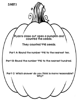 3rd Grade Common Core Autumn Math Assessment Task