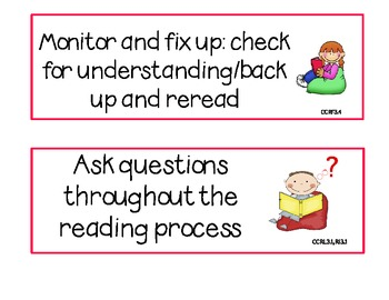 3rd Grade Common Core CAFE Reading Strategies