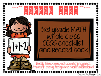 Third Grade Common Core (CCSS) Checklist: Math & ELA