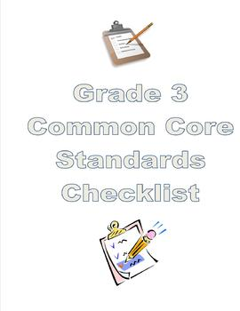 3rd Grade Common Core Checklist