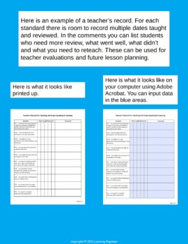 3rd Grade Checklists | Data Tracking | Quick Checks | Common Core ELA and Math