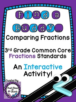 3rd Grade Common Core Comparing Fractions (Find a Buddy)