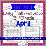Math Morning Work 3rd Grade April Editable