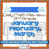 Math Morning Work 3rd Grade Bundle Editable