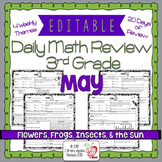 Math Morning Work 3rd Grade May Editable