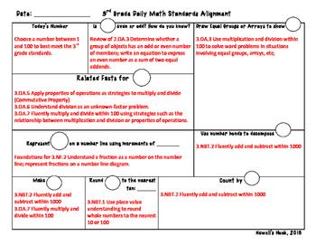 3rd Grade Common Core Daily Math Routine