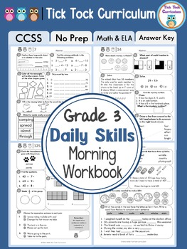 Grade 3 Daily Skills Morning Workbook