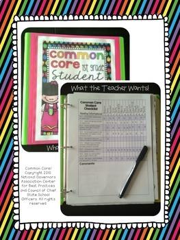 {3rd Grade} Common Core Data Checklists - Math and ELA