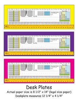 3rd Grade Common Core Desk Plates: 6 Colors