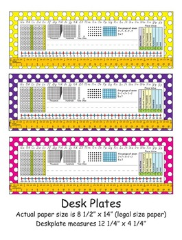 3rd Grade Common Core Desk Plates: Dots