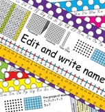 3rd Grade Common Core Desk Plates: Dots: Editable
