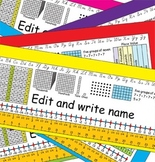 3rd Grade Common Core Desk Plates: Editable & 6 Colors
