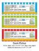 3rd Grade Common Core Desk Plates: Stripes: Editable