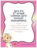 3rd Grade Common Core Division Unit Assessments