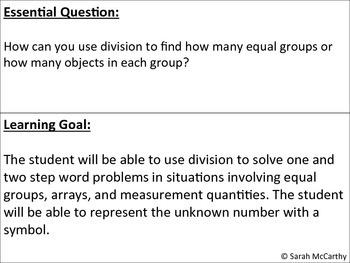 3rd Grade Common Core Division with Multi-Steps (Rigorous)