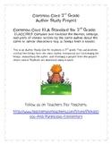 3rd Grade Common Core ELA Author Project Compare Contrast