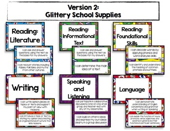 """3rd Grade Common Core ELA """"I CAN"""" Statements"""