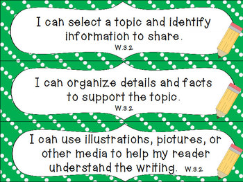 3rd Grade Common Core ELA I Can Statements