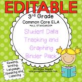 3rd Grade Common Core: ELA {Student Data Tracking Binder Pack} *EDITABLE*