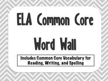 3rd Grade Common Core ELA Word Wall