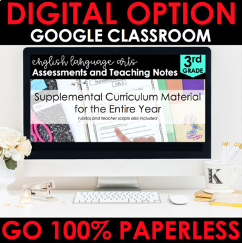 3rd Grade Assessments - Reading Comprehension Google Classroom Distance Learning