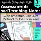 3rd Grade Common Core ELA Assessments and Teaching Notes *ALL STANDARDS