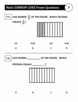 3rd Grade Common Core Enhanced Multiple Choice Assessment