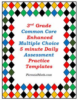 3rd Grade Common Core Enhanced Multiple Choice Assessment