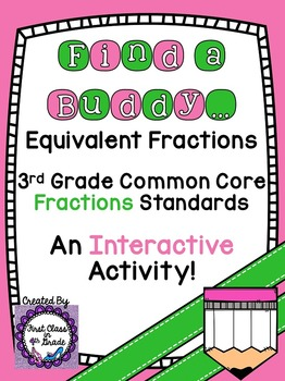 3rd Grade Common Core Equivalent Fractions (Find a Buddy)