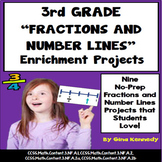 3rd Grade Fractions And Number Lines Projects, Plus Vocabu