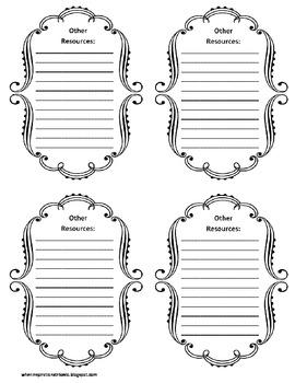 3rd Grade Common Core File Labels