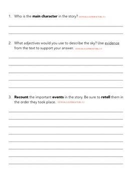 3rd Grade-Common Core Folktale Questions