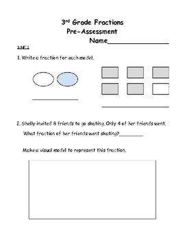 3rd Grade Common Core Fraction Assessment