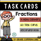 3rd Grade Fraction Task Cards  ~60 Common Core Task Cards
