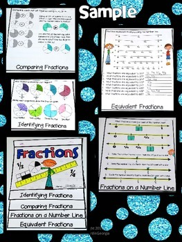 3rd Grade Common Core- Fractions Interactive Flipbook- Activity/Assessment