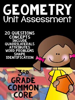 3rd Grade Common Core- Geometry Unit Assessment