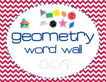 3rd Grade Common Core Geometry Vocabulary Booklet